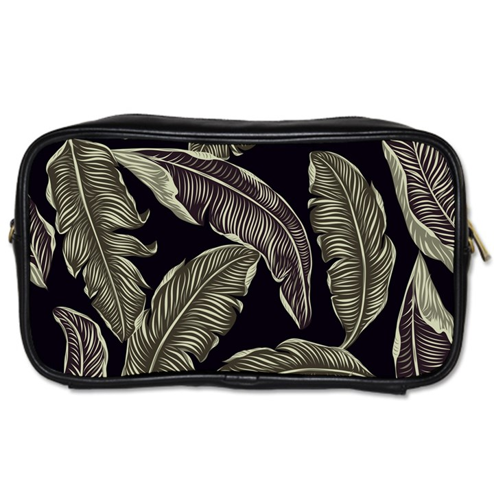 Jungle Leaves Tropical Pattern Toiletries Bag (One Side)