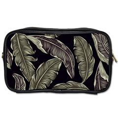 Jungle Leaves Tropical Pattern Toiletries Bag (two Sides)