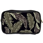 Jungle Leaves Tropical Pattern Toiletries Bag (Two Sides) Front