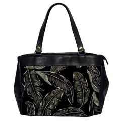 Jungle Leaves Tropical Pattern Oversize Office Handbag by Nexatart