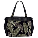 Jungle Leaves Tropical Pattern Oversize Office Handbag (2 Sides) Back