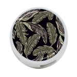 Jungle Leaves Tropical Pattern 4-Port USB Hub (One Side) Front