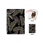 Jungle Leaves Tropical Pattern Playing Cards (Mini) Back