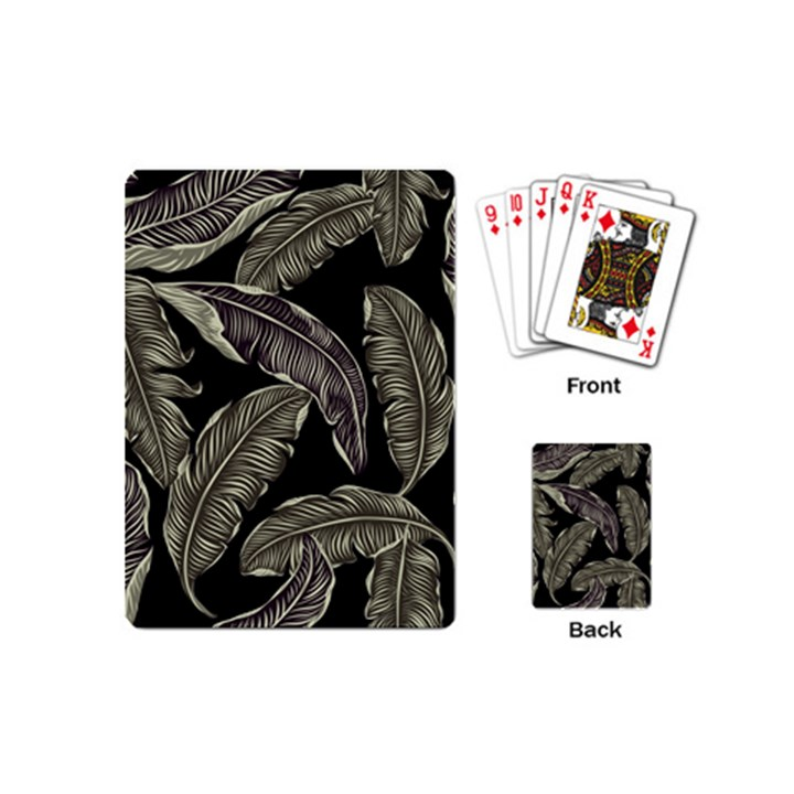 Jungle Leaves Tropical Pattern Playing Cards (Mini)