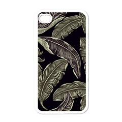 Jungle Leaves Tropical Pattern Apple Iphone 4 Case (white)