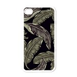 Jungle Leaves Tropical Pattern Apple iPhone 4 Case (White) Front