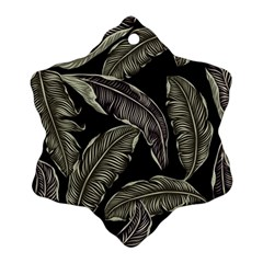 Jungle Leaves Tropical Pattern Ornament (snowflake)