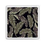 Jungle Leaves Tropical Pattern Memory Card Reader (Square) Front