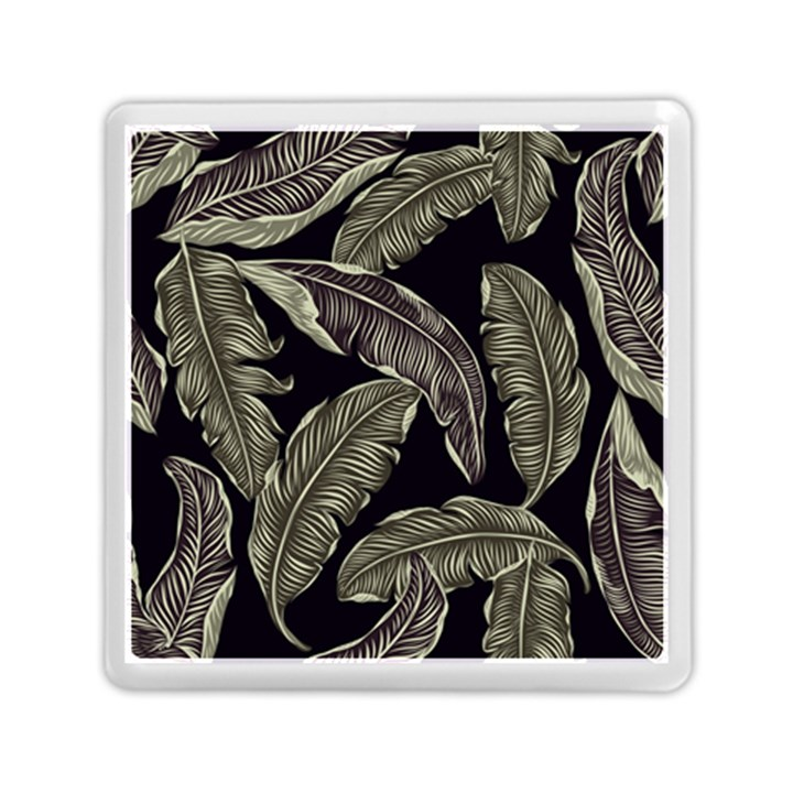 Jungle Leaves Tropical Pattern Memory Card Reader (Square)