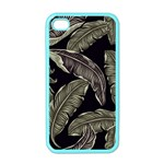 Jungle Leaves Tropical Pattern Apple iPhone 4 Case (Color) Front