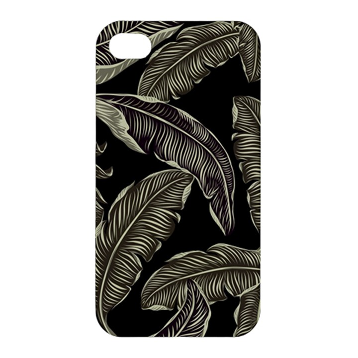 Jungle Leaves Tropical Pattern Apple iPhone 4/4S Hardshell Case