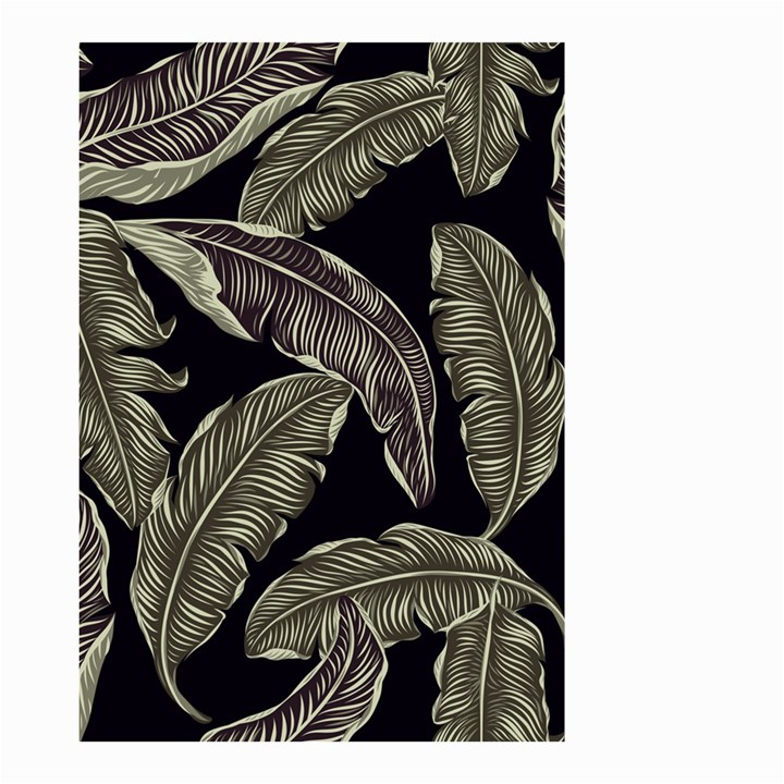 Jungle Leaves Tropical Pattern Small Garden Flag (Two Sides)