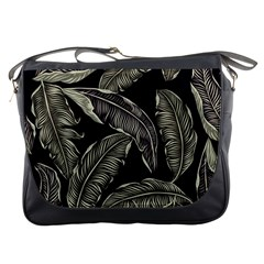 Jungle Leaves Tropical Pattern Messenger Bag by Nexatart