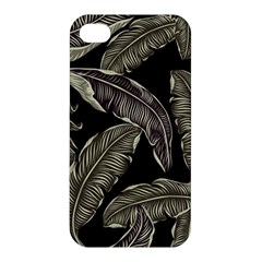 Jungle Leaves Tropical Pattern Apple Iphone 4/4s Premium Hardshell Case