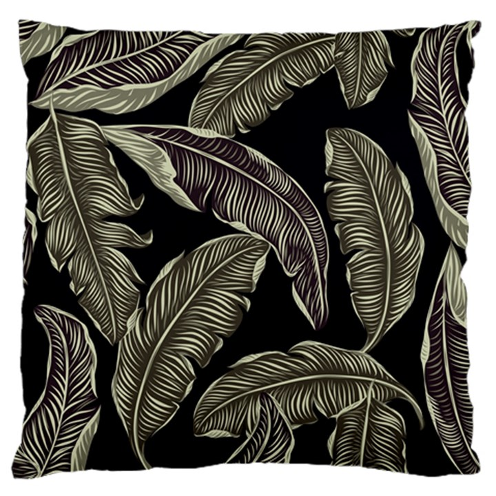 Jungle Leaves Tropical Pattern Large Cushion Case (Two Sides)