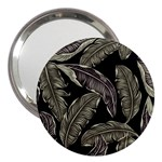 Jungle Leaves Tropical Pattern 3  Handbag Mirrors Front