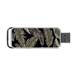 Jungle Leaves Tropical Pattern Portable Usb Flash (one Side)