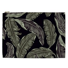 Jungle Leaves Tropical Pattern Cosmetic Bag (xxl)