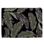 Jungle Leaves Tropical Pattern Cosmetic Bag (XXL) Back