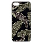 Jungle Leaves Tropical Pattern Apple Seamless iPhone 5 Case (Clear) Front
