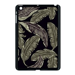 Jungle Leaves Tropical Pattern Apple Ipad Mini Case (black)