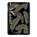 Jungle Leaves Tropical Pattern Apple iPad Mini Case (Black) Front