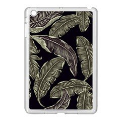 Jungle Leaves Tropical Pattern Apple Ipad Mini Case (white) by Nexatart