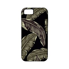 Jungle Leaves Tropical Pattern Apple Iphone 5 Classic Hardshell Case (pc+silicone)