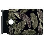 Jungle Leaves Tropical Pattern Apple iPad 3/4 Flip 360 Case Front