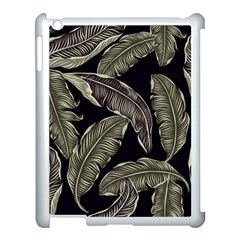 Jungle Leaves Tropical Pattern Apple Ipad 3/4 Case (white)