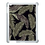 Jungle Leaves Tropical Pattern Apple iPad 3/4 Case (White) Front