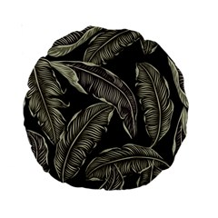 Jungle Leaves Tropical Pattern Standard 15  Premium Round Cushions by Nexatart