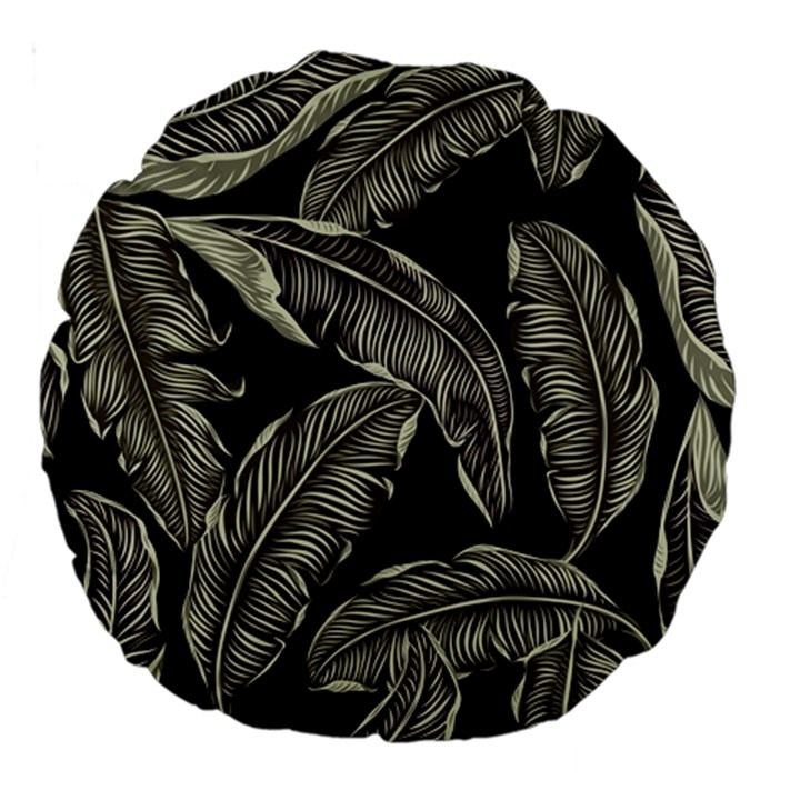 Jungle Leaves Tropical Pattern Large 18  Premium Round Cushions