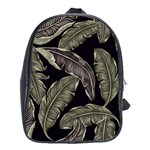 Jungle Leaves Tropical Pattern School Bag (XL) Front
