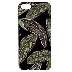 Jungle Leaves Tropical Pattern Apple Iphone 5 Hardshell Case With Stand