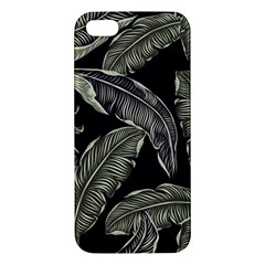 Jungle Leaves Tropical Pattern Apple Iphone 5 Premium Hardshell Case