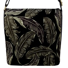Jungle Leaves Tropical Pattern Flap Closure Messenger Bag (s) by Nexatart