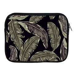 Jungle Leaves Tropical Pattern Apple Ipad 2/3/4 Zipper Cases