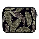 Jungle Leaves Tropical Pattern Apple iPad 2/3/4 Zipper Cases Front