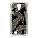 Jungle Leaves Tropical Pattern Samsung GALAXY S4 I9500/ I9505 Case (White) Front