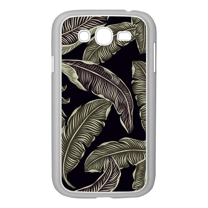 Jungle Leaves Tropical Pattern Samsung Galaxy Grand DUOS I9082 Case (White)
