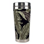 Jungle Leaves Tropical Pattern Stainless Steel Travel Tumblers Left