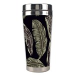 Jungle Leaves Tropical Pattern Stainless Steel Travel Tumblers Right