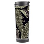 Jungle Leaves Tropical Pattern Travel Tumbler Left