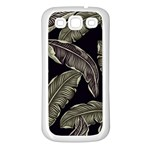 Jungle Leaves Tropical Pattern Samsung Galaxy S3 Back Case (White) Front