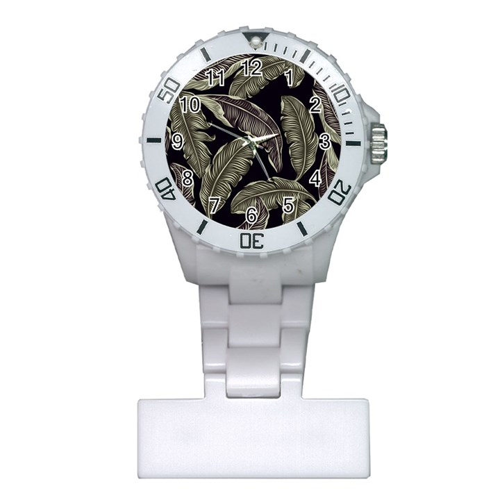 Jungle Leaves Tropical Pattern Plastic Nurses Watch