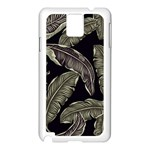 Jungle Leaves Tropical Pattern Samsung Galaxy Note 3 N9005 Case (White) Front