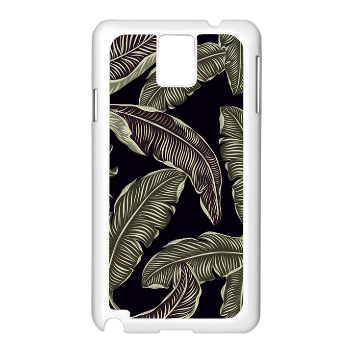 Jungle Leaves Tropical Pattern Samsung Galaxy Note 3 N9005 Case (White)
