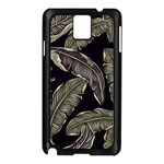 Jungle Leaves Tropical Pattern Samsung Galaxy Note 3 N9005 Case (Black) Front