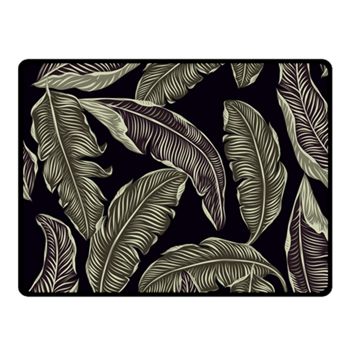 Jungle Leaves Tropical Pattern Double Sided Fleece Blanket (Small)